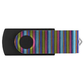 Sketchy Broad Stripes Swivel USB 3.0 Flash Drive