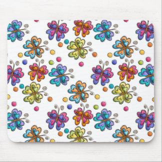Sketchy Butterflies & Dots Mousepads