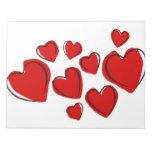 Sketchy Hearts Memo Note Pads