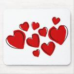 Sketchy Hearts Mousepad