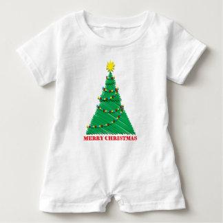 Sketchy Merry Christmas Tree Stroke Baby Bodysuit
