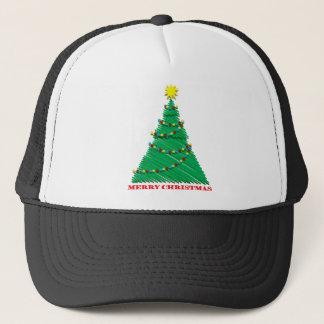 Sketchy Merry Christmas Tree Stroke Trucker Hat