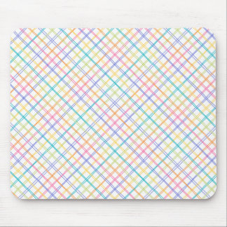 Sketchy Multicolor Plaid Mouse Pad