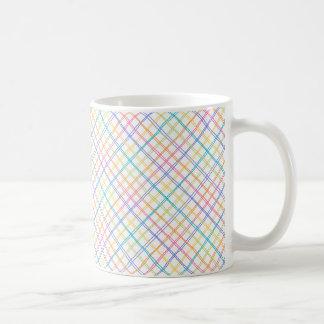 Sketchy Multicolor Plaid Coffee Mugs