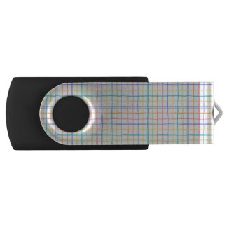 Sketchy Multicolor Plaid Swivel USB 3.0 Flash Drive