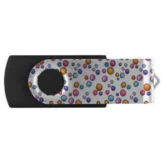 Sketchy Random Dots Swivel USB 3.0 Flash Drive