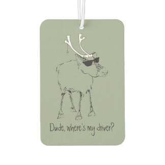 Sketchy Reindeer With Sunglasses And No Driver