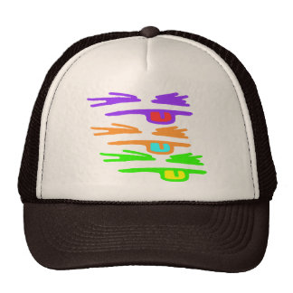 Sketchy, RGB and Rude Mesh Hat