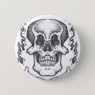 Sketchy Skull 6 Cm Round Badge