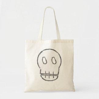 Sketchy Skull Canvas Bag