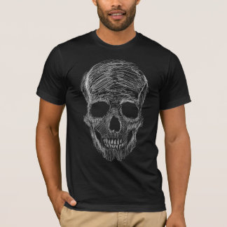 Sketchy Skull Basic Dark American Apparel T-Shirt