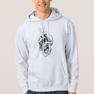 sketchy skull hoodie
