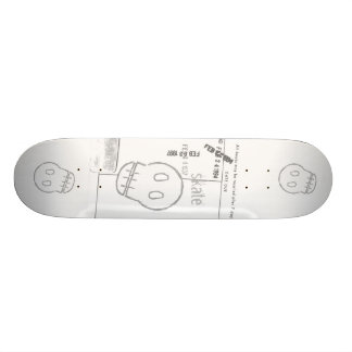 Sketchy Skull Skateboard