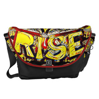 Sketchy Sun Rise ~ Uplifting Graphic Message Messenger Bag