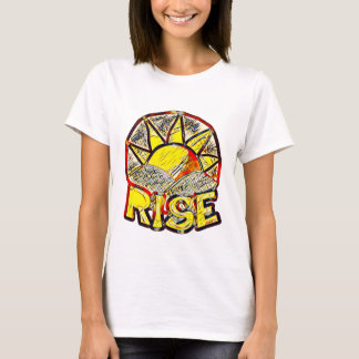 Sketchy Sun Rise ~ Uplifting Message Graphic T-Shirt