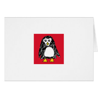 Sketchy the Penguin Happy Holidays Greeting Card