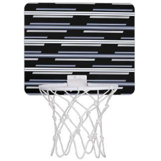 Skewed Stripes Pattern Design Mini Basketball Hoop