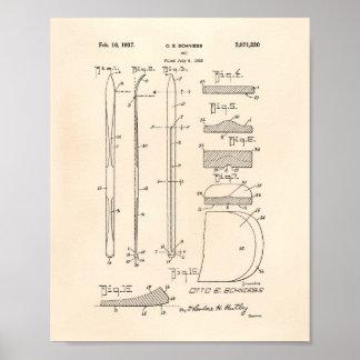 Ski 1937 Patent Art Old Peper Poster