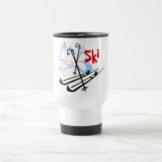 ski - 2 travel mug