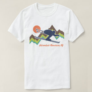 Ski Adirondack Mountains NY T-Shirt