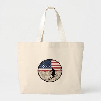 Ski America Large Tote Bag