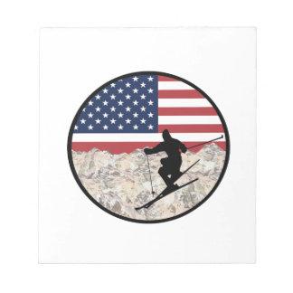 Ski America Notepad