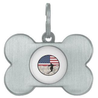 Ski America Pet Name Tag