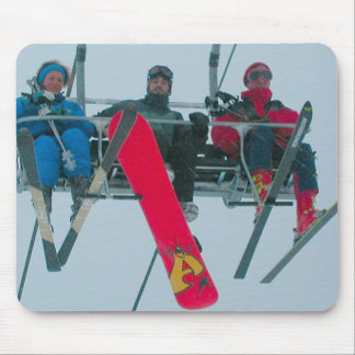 Ski and snowboard mouse pad