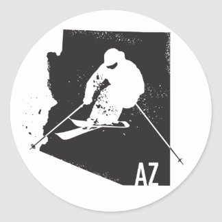 Ski Arizona Classic Round Sticker