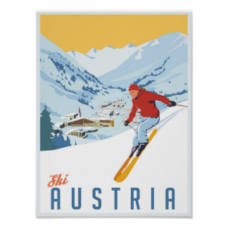 Ski posters from Zazzle