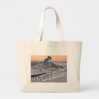 Ski Beach Turtle Tote Bag