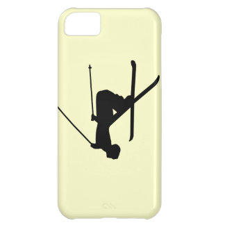 Ski Black Silhouette Cover For iPhone 5C