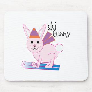 Ski Bunny Mousepad