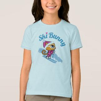 Ski Bunny Skiing Cat T-shirt by Cheeky Chats