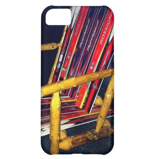 Ski Chair Cool Things to Make with Old Skis iPhone 5C Case