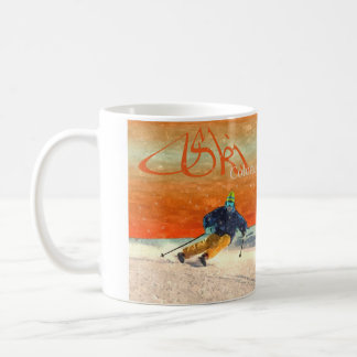 Ski Colorado in Orange Coffee Mug