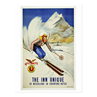 Ski Crawford Notch Vintage Travel Postcard
