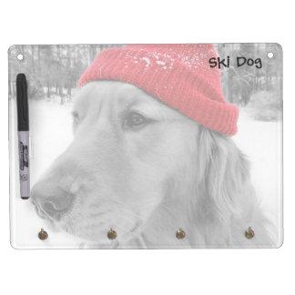 Ski Dog Horizontal Dry Erase Board