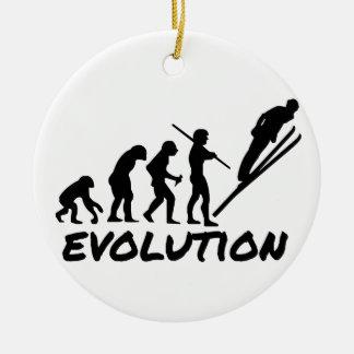Ski Evolution Ceramic Ornament