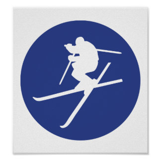 Ski freestyle jump poster