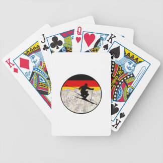 Ski Germany Bicycle Playing Cards