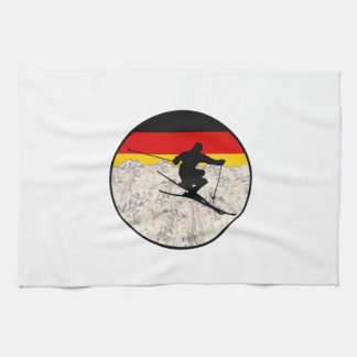 Ski Germany Tea Towel