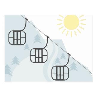 Ski Gondolas Postcard