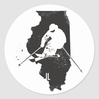 Ski Illinois Classic Round Sticker