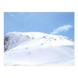 Ski In The Alps On Snow Postcard
