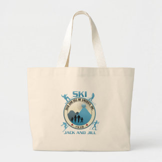 Ski Jack and Jill Blue Stuff Jumbo Tote Bag