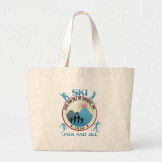 Ski Jack and Jill Pink Stuff Jumbo Tote Bag