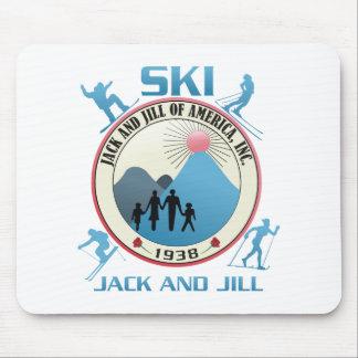 Ski Jack and Jill Pink Stuff Mouse Pads