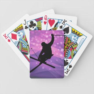 Ski Jump Bicycle Playing Cards
