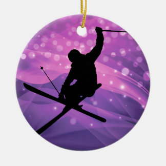 Ski Jump Ceramic Ornament